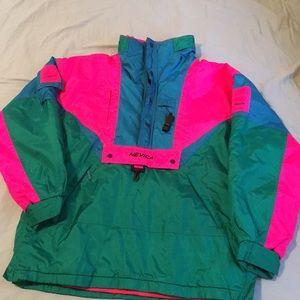 Vintage neon color Nevica ski coat